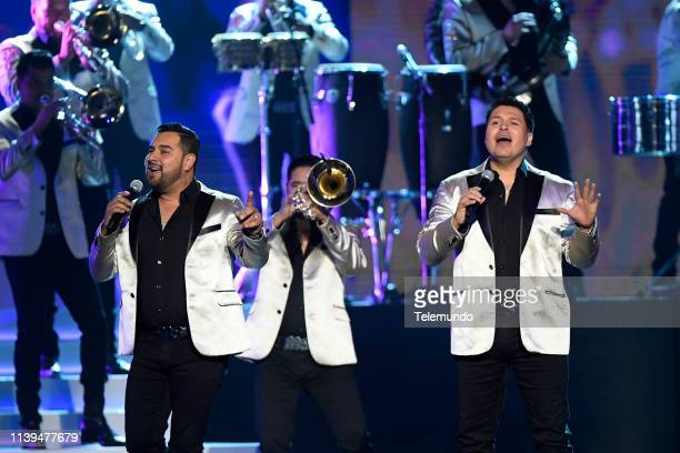 Pictured: Banda Sinaloense MS de Sergio Lizarraga performs at the Mandalay Bay Resort and Casino in Las Vegas, NV on April 25, 2019 --