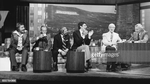 Bandleader Doc Severinsen actor/singer Bing Crosby actor/singer/dancer Ray Bolger composer Marvin Hamlisch actor Burt Mustin host Johnny Carson on...