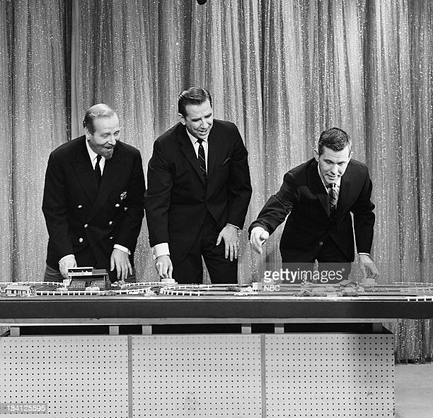 Bandleader Skitch Henderson announcer Ed McMahon host Johnny Carson on December 6 1962