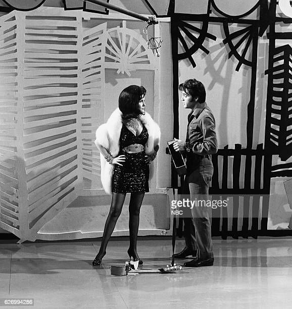 '68 COMEBACK SPECIAL Pictured Barbara Burgess as Girl with 'Big Boss Man' Elvis Presley during his '68 Comeback Special on NBC