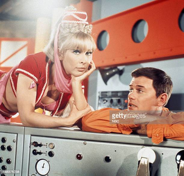 Pictured: Barbara Eden as Jeannie, Larry Hagman as Anthony 'Tony' Nelson