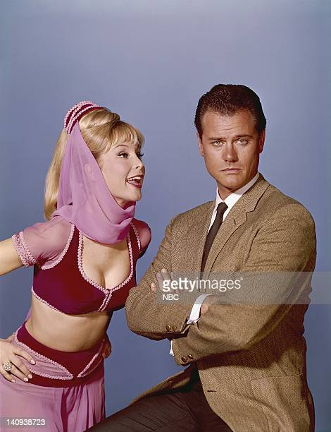 Barbara Eden as Jeannie Larry Hagman as Anthony 'Tony' Nelson Photo by NBCU Photo Bank