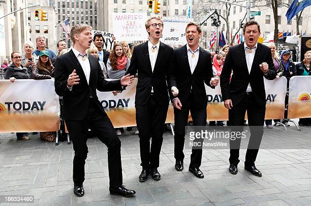 Barbershop quartet The Ringmasters appear on NBC News' Today show
