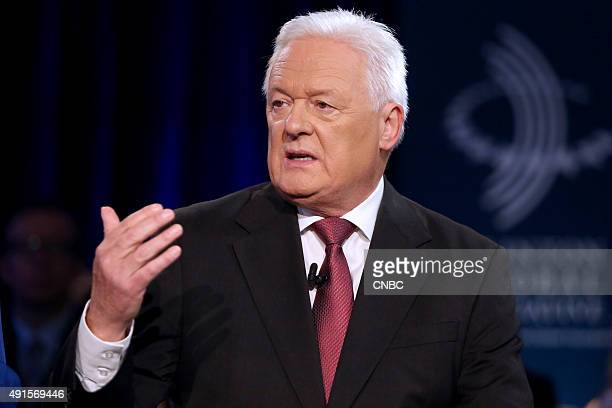 Barclays Chairman John McFarlane speaks at the Clinton Global Initiative Annual Meeting in New York City on September 28 2015