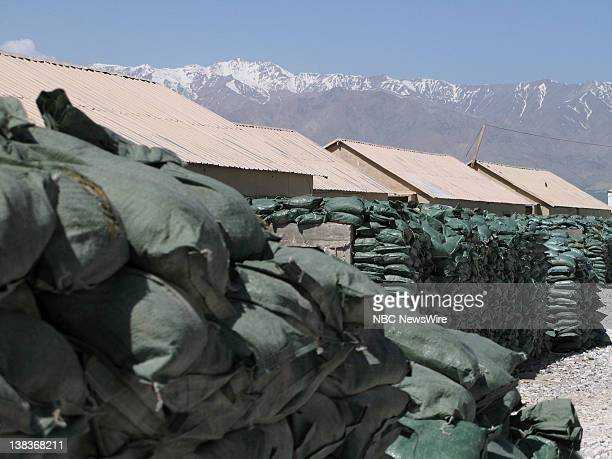 Barracks at Bagram Air Field at 6 am on April 18 2007