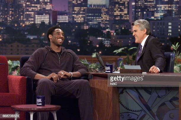 Basketball Player Kobe Bryant during an interview with Host Jay Leno on June 28th 2001