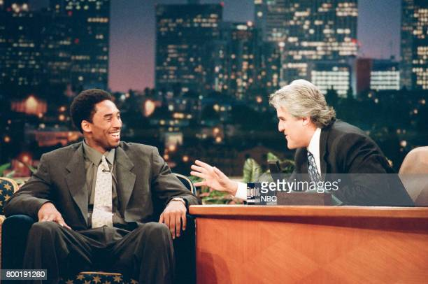 Basketball player Kobe Bryant during an interview with host Jay Leno on February 12 1998