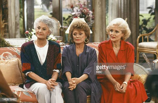 Pictured: Bea Arthur as Dorothy Petrillo-Zbornak, Rue McClanahan as Blanche Devereaux, Betty White as Rose Nylund -- Photo by: NBC/NBCU Photo Bank
