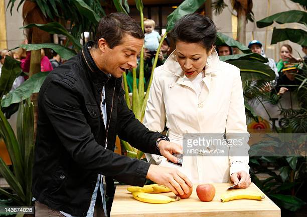 Bear Grylls and Ann Curry appear on NBC News' 'Today' show