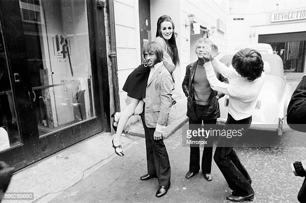Pictured being carried by Maurice also pictured Barry Colin Peterson Lesley is making her showbiz comback when she sings with the Bee Gees on their...