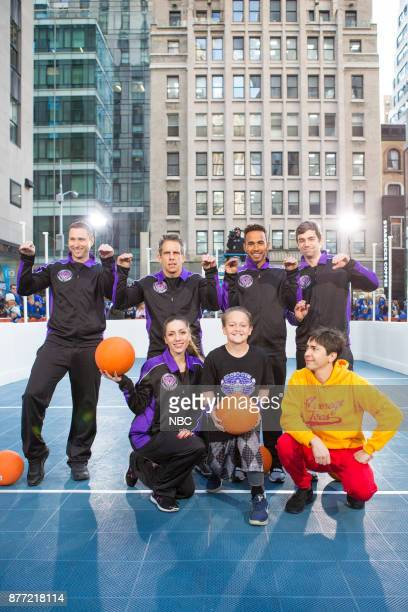 Ben Stiller Lewis Hamilton Justin Long play Dodgeball on Tuesday November 21 2017