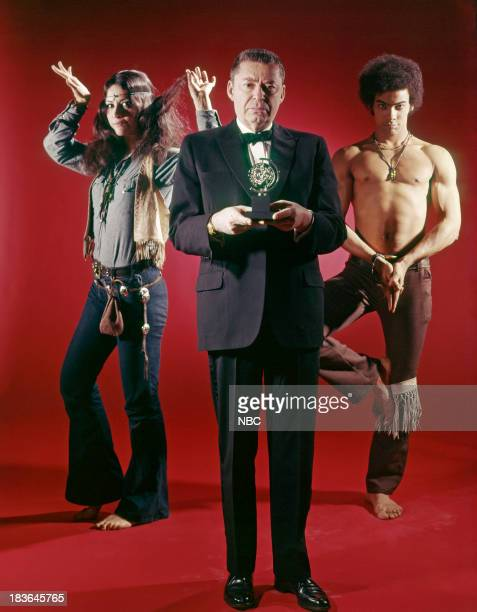 BROADWAY '69 Pictured Best Musicial Nominee for Hair actress Martha Velez as Sheila producer Alexander H Cohen actor Erroll Booker