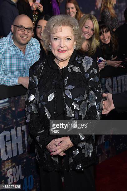 Betty White walks the red carpet at the SNL 40th Anniversary Special at 30 Rockefeller Plaza in New York NY on February 15 2015