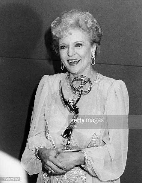 Betty White winner of Outstanding Lead Actress in a Comedy Series NBC's The Golden Girls held at the Pasadena Civic Auditorium in Pasadena CA on...
