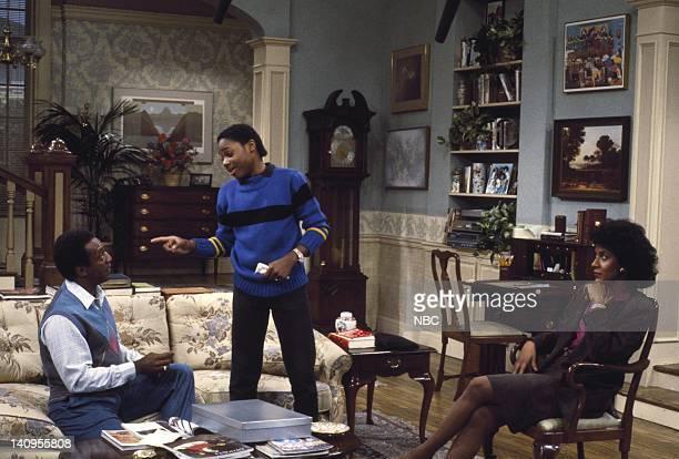 Bill Cosby as Dr Heathcliff 'Cliff' Huxtable MalcolmJamal Warner as Theodore 'Theo' Huxtable Phylicia Rashad as Clair Hanks Huxtable Photo by R M...