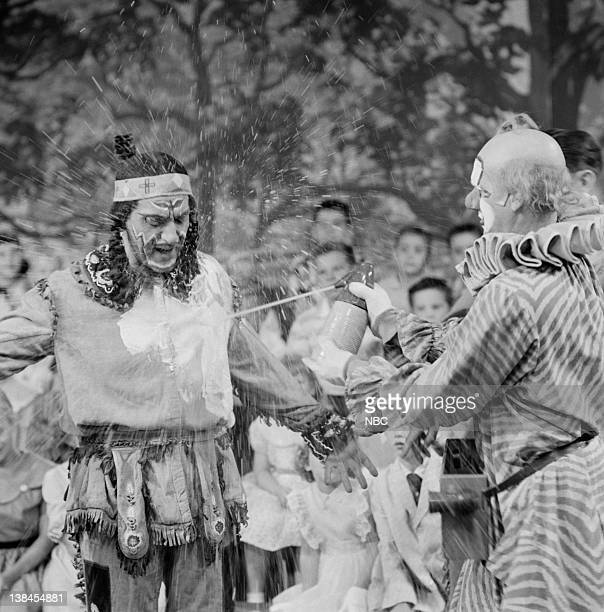 Bill LeCornec as Chief Thunderthud and Lew Anderson as Clarabell the Clown
