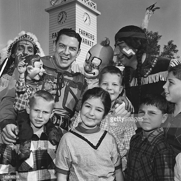 Bill LeCornec as Chief Thunderthud Howdy Doody Bob Smith as Buffalo Bob Smith Lew Anderson as Clarabell the Clown unknown Photo by NBCU Photo Bank