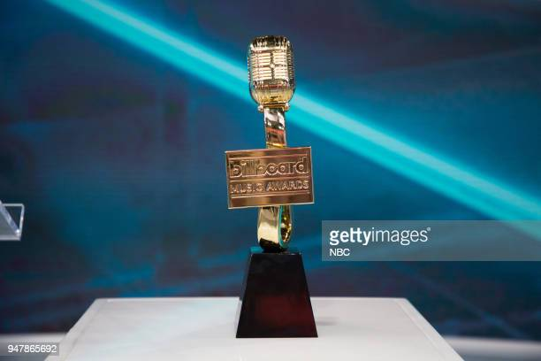 Billboard Music Awards trophy on Tuesday, April 17, 2018 --