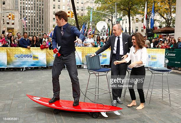 Billy Bush Matt Lauer and Kit Hoover appear on NBC News' 'Today' show