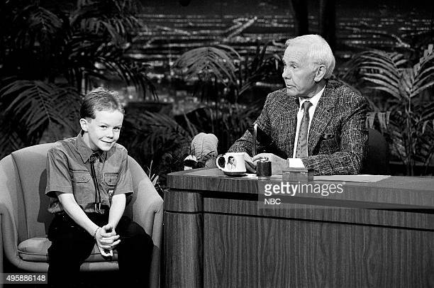 BJ Sniff during an interview with host Johnny Carson on April 3 1991