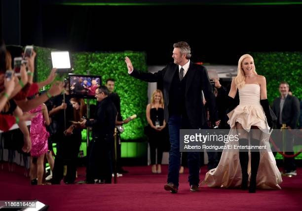 Blake Shelton and Gwen Stefani arrive to the 2019 E People's Choice Awards held at the Barker Hangar on November 10 2019 NUP_188996