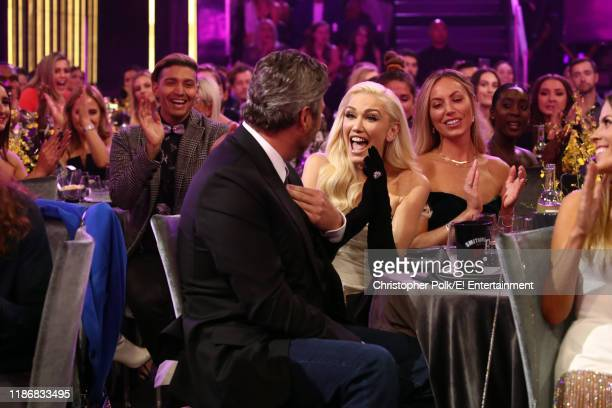 Blake Shelton and Gwen Stefani attend the 2019 E People's Choice Awards held at the Barker Hangar on November 10 2019 NUP_188993