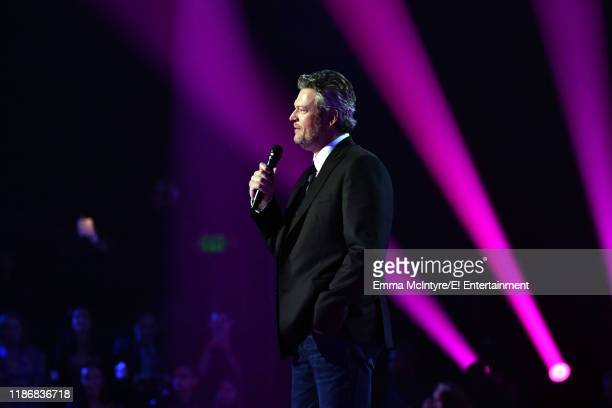 Blake Shelton on stage during the 2019 E People's Choice Awards held at the Barker Hangar on November 10 2019 NUP_188995