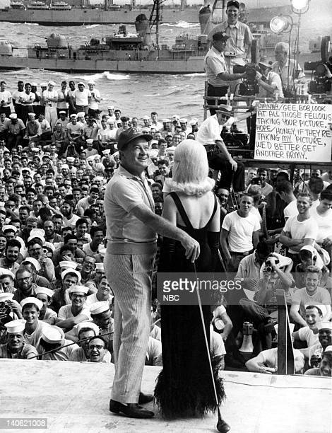 Bob Hope Dian Parkinson during a USO Tour for the troops overseas Photo by NBCU Photo Bank