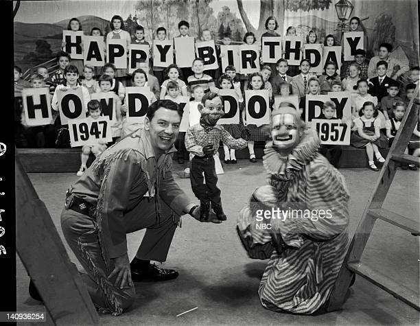 Bob Smith as Buffalo Bob Smith Howdy Doody Lew Anderson as Clarabell the Clown Photo by NBCU Photo Bank