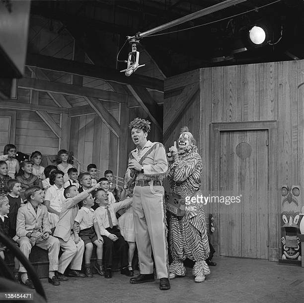 Bob Smith as Buffalo Bob Smith Lew Anderson as Clarabell the Clown and the Peanut Gallery