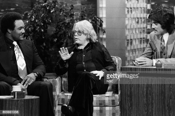 Boxer George Foreman and singer/songwriter Paul Williams during an interview with guest host Freddie Prinze on November 151976