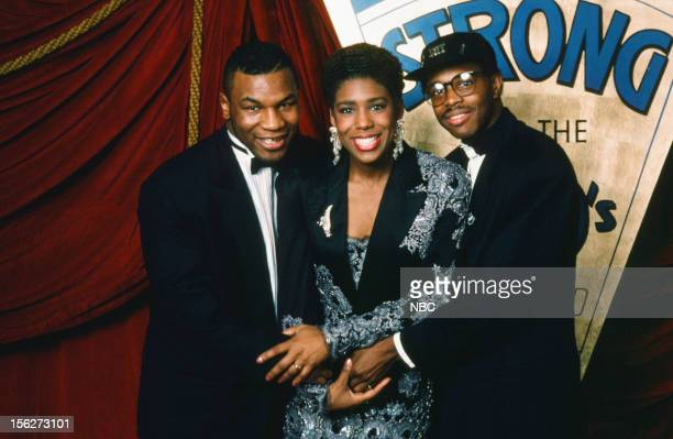 Boxer of the Decade winner Mike Tyson actress Dawnn Lewis Best New Artist/Best Album nominee Gerald Alston during the 22nd NAACp Image Awards held at...