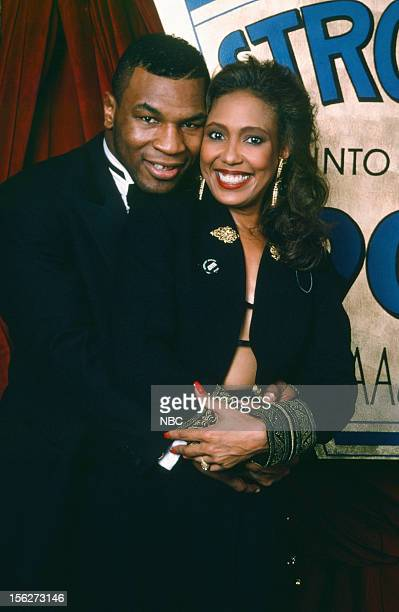 Boxer of the Decade winner Mike Tyson actress Telma Hopkins during the 22nd NAACp Image Awards held at The Wiltern Theatre on December 9 1989