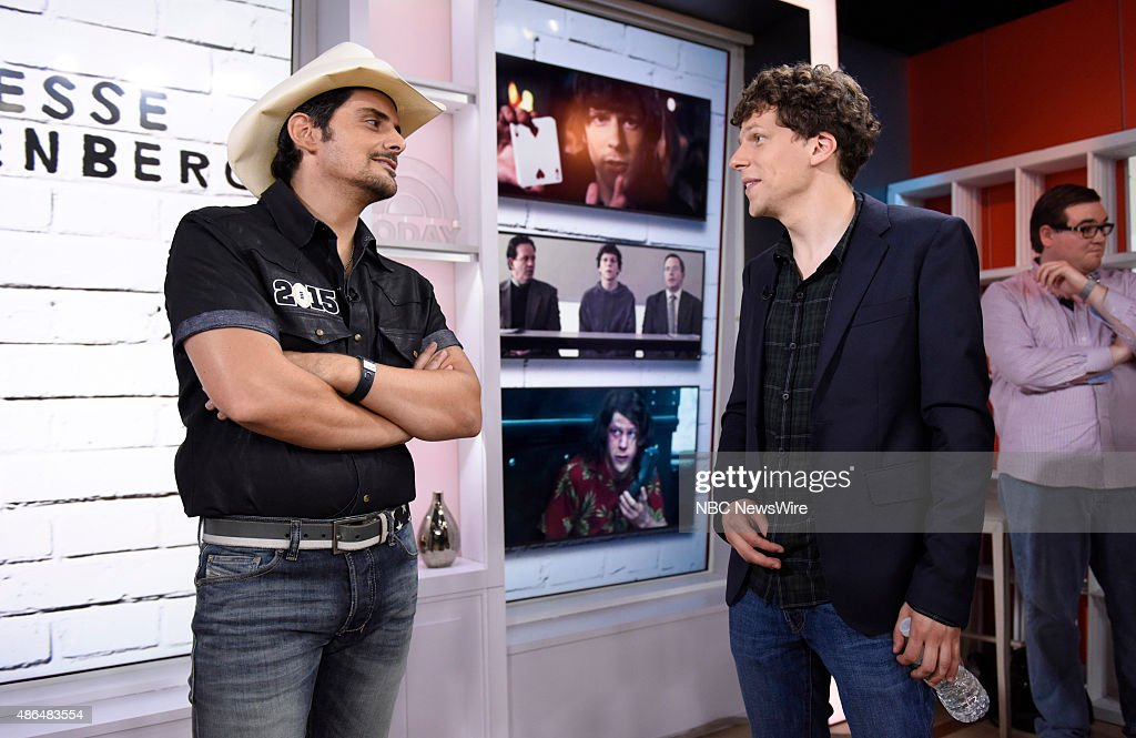 Brad Paisley and Jesse Eisenberg appear on NBC News' 'Today' show --