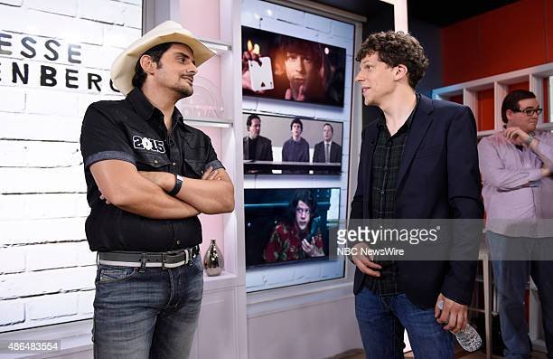Brad Paisley and Jesse Eisenberg appear on NBC News' 'Today' show