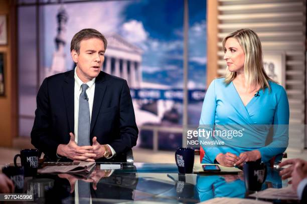 Bret Stephens Columnist The New York Times MSNBC Contributor and Carol Lee NBC News National Political Reporter appear on Meet the Press in...