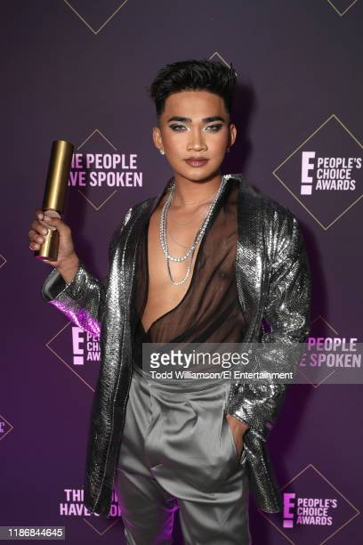 Bretman Rock poses backstage during the 2019 E People's Choice Awards held at the Barker Hangar on November 10 2019 NUP_188991