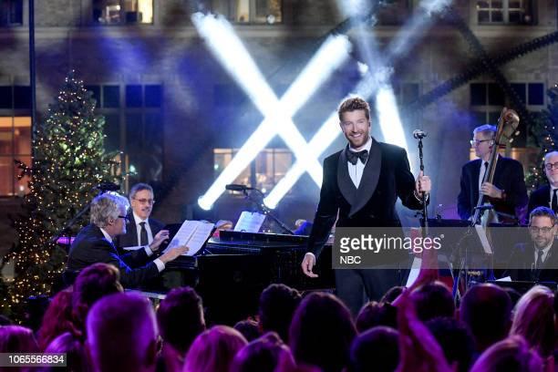 Brett Eldredge rehearses for the 2018 Christmas in Rockefeller Center