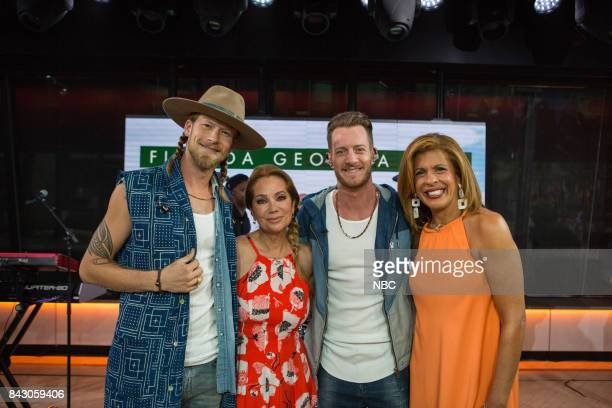 Brian Kelley Kathie Lee Gifford Tyler Hubbard and Hoda Kotb on Friday September 1 2017
