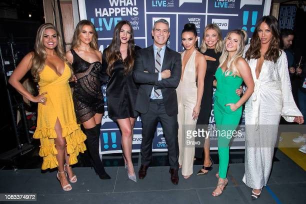 Brittany Cartwright Lala Kent Kate Maloney Andy Cohen Scheana Shay Stassi Schroeder Ariana Madix and Kristen Doute
