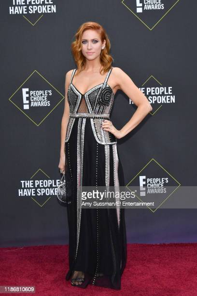 Brittany Snow arrives to the 2019 E People's Choice Awards held at the Barker Hangar on November 10 2019 NUP_188989