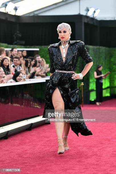 Brooke Lynn Hytes arrives to the 2019 E People's Choice Awards held at the Barker Hangar on November 10 2019 NUP_188996