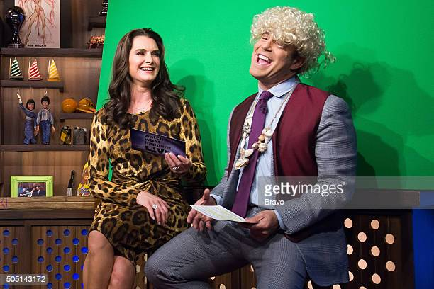 Brooke Shields and Andy Cohen