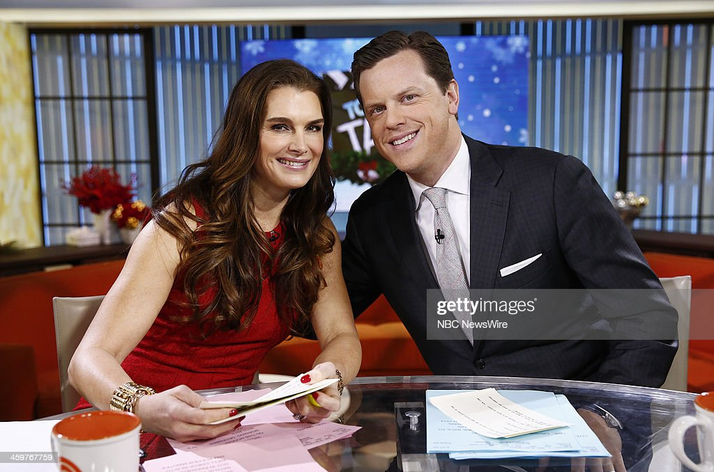Brooke Shields and Willie Geist appear on NBC News' 'Today' show --
