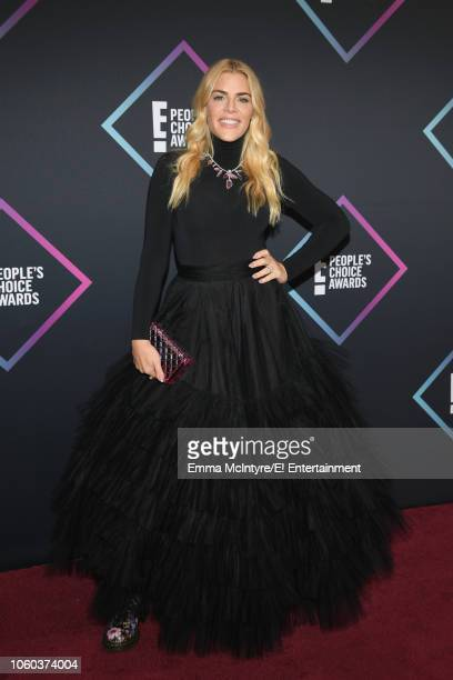 Busy Phillips arrives to the 2018 E People's Choice Awards held at the Barker Hangar on November 11 2018 NUP_185068