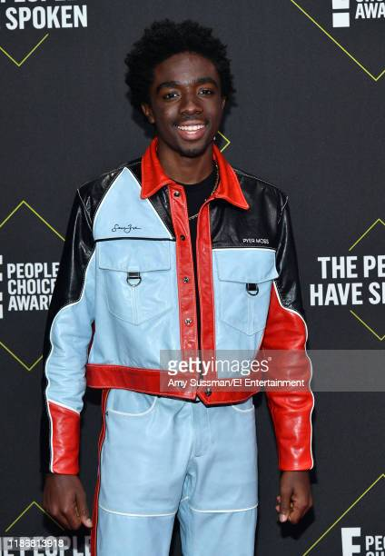 Pictured: Caleb McLaughlin arrives to the 2019 E! People's Choice Awards held at the Barker Hangar on November 10, 2019 -- NUP_188989