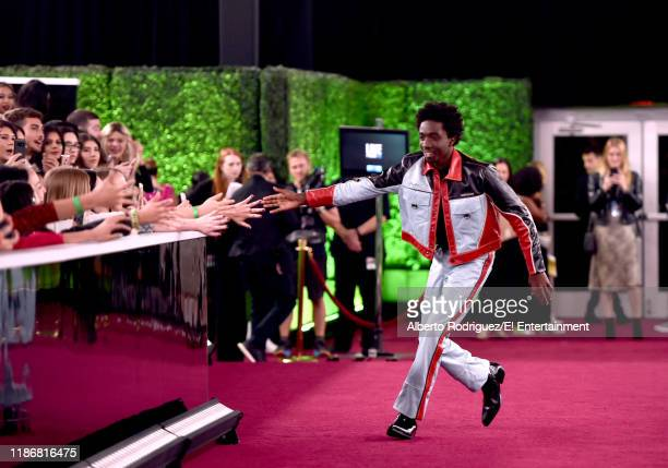 Caleb McLaughlin arrives to the 2019 E People's Choice Awards held at the Barker Hangar on November 10 2019 NUP_188996