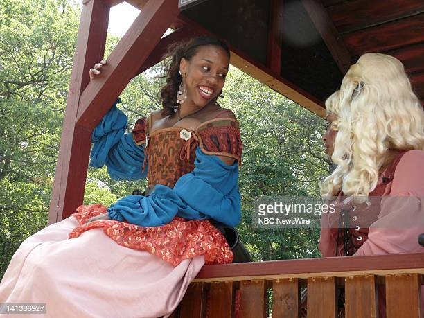 Candace Kendall-Brown As Lily White, Courtesan And Tisza Evans As Rose Redemption, Courtesan -- The New York Renaissance Faire in Tuxedo, NY brings...