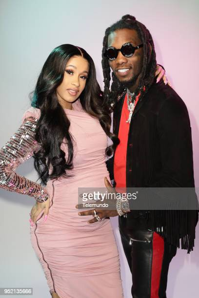 Cardi B Offset backstage at the Mandalay Bay Resort and Casino in Las Vegas NV on April 26 2018