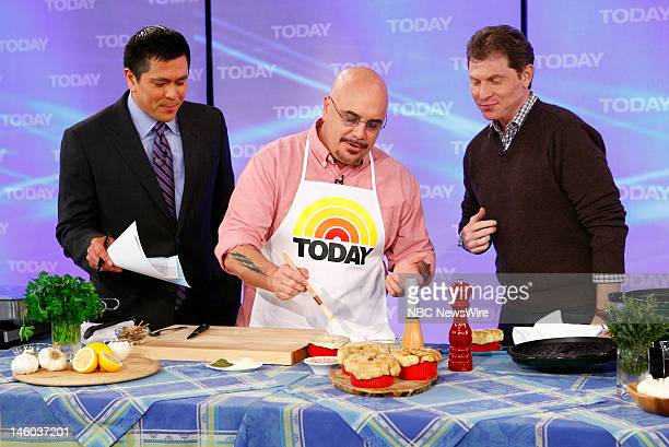Carl Quintanilla Sean Michael Beyer and Bobby Flay appear on NBC News' 'Today' show